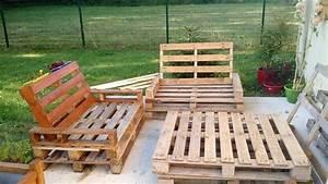 Salon De Jardin Palettes : mobilier de jardin en palette ~ Farleysfitness.com Idées de Décoration