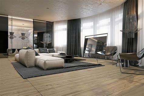 quatre appartements avec deco design masculin