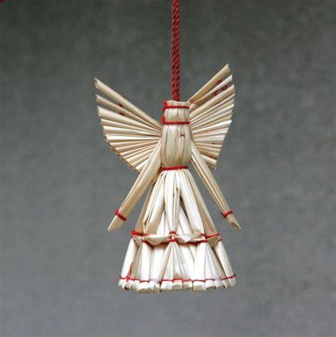 vintage christmas ornament angel straw holiday trim decor