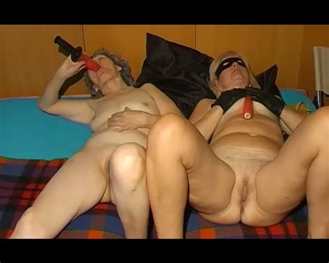 A Couple Of Disgusting Old Ladies Masturbating Together On