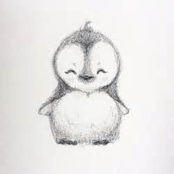 Cute Penguin Pencil Drawings