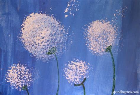 Pictures Of Kitchen Ideas - painting dandelions simple acrylic paint idea sparklingbuds