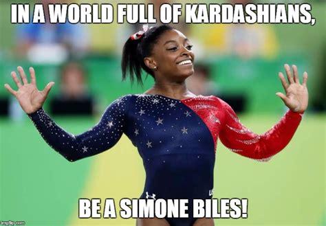 Gymnast Meme - be a simone biles imgflip