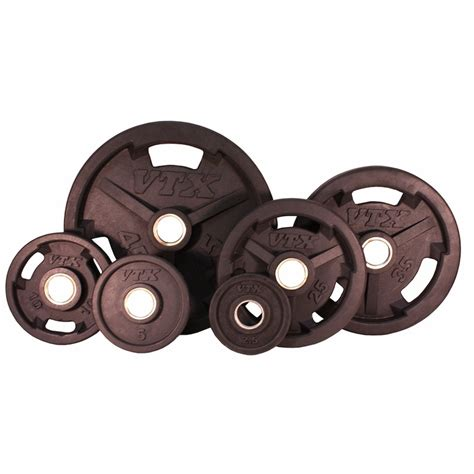 vtx rubber olympic weight plate set lbs