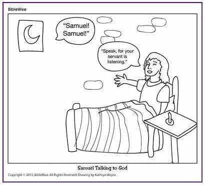 Samuel Coloring Bible Talking God Story Biblewise