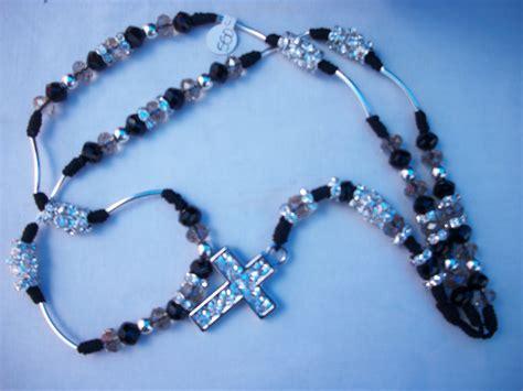 yenyo accesorios rosario plata  cristal