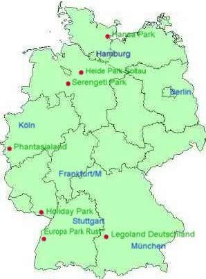 Freizeitpark Karte Deutschland