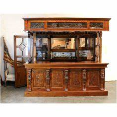 1239 victorian mahogany mirrors back and front bar tavern With home bar furniture ireland