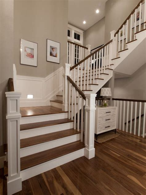 craftsman style stair railing 27 painted staircase ideas which make your stairs look new 6253