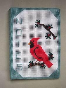 Crochet Charts Handmade Plastic Canvas Mat Notes Notebook Cardinal Red