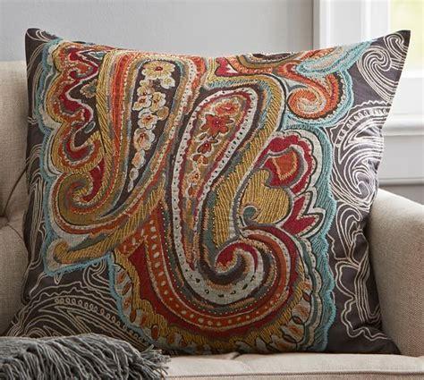 miller paisley throw pillows houston paisley pillow cover pottery barn 80 00