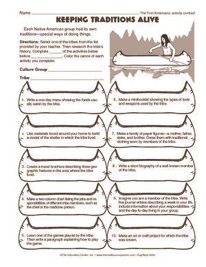 Worksheet Native American Traditions  Native American Social Studies  Pinterest Native