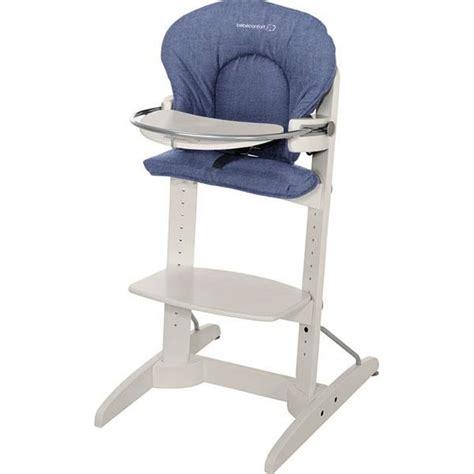 chaise haute woodline bébé confort bebe confort chaise haute woodline denim bleu