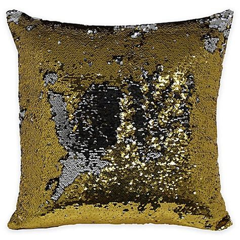 gold sequin pillow buy mermaid sequin throw pillow in gold silver from bed