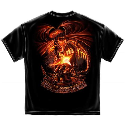 fear no evil firefighters t shirt black