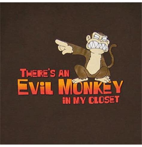 Family Monkey In The Closet by Buy Official Family Evil Monkey In Closet Brown T Shirt