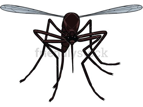 Mosquito Clip Flying Mosquito Front View Vector Clipart