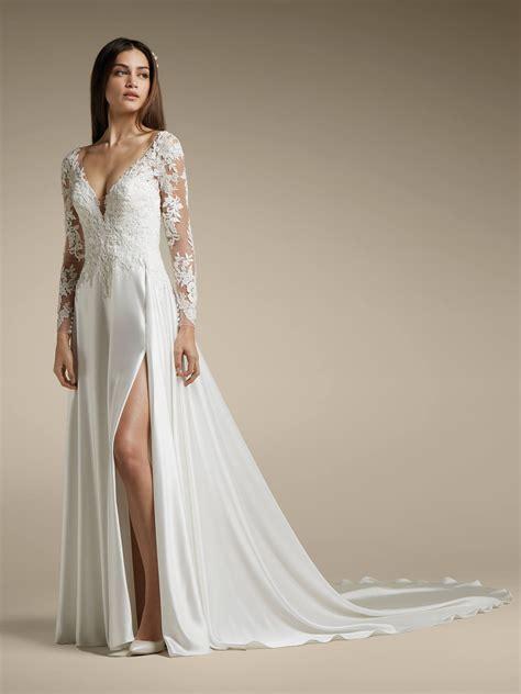 alce wedding dress   neck   sexy evase cut