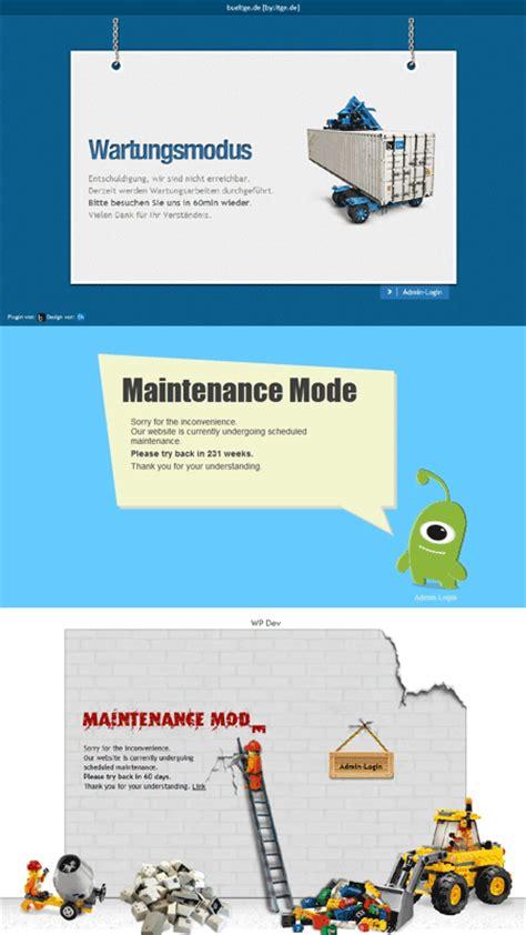 Wordpress Maintenance Mode  Redirect Visitors To A