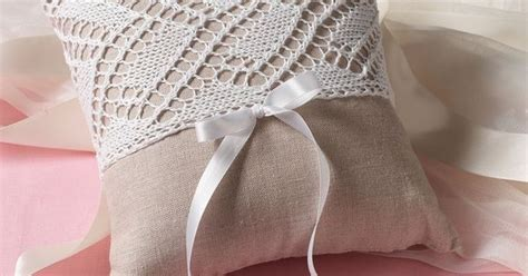 knit and crochet accessories free patterns ring bearer pillows ring pillows and wedding ideas
