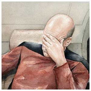 Facepalm Picard - Nice Going Number One! - Neatorama