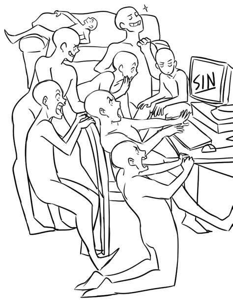 Draw The Squad Sin Blank Template PC 8 people Draw The