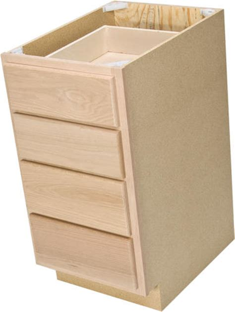 4 drawer kitchen cabinet quality one 15 quot x 34 1 2 quot unfinished oak 4 drawer base 3897
