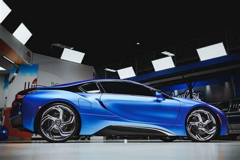 duo  matte blue bmw     lexani wheels