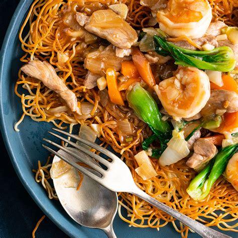 hong kong crispy noodles  pork prawn marions kitchen
