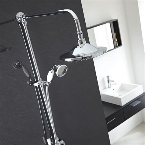 Thermostatic Shower Faucet by Traditional Exposed Dual Thermostatic Shower
