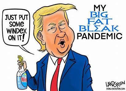 Cartoon Disinfectant Trump Remedy Landgren Opinion Trumps