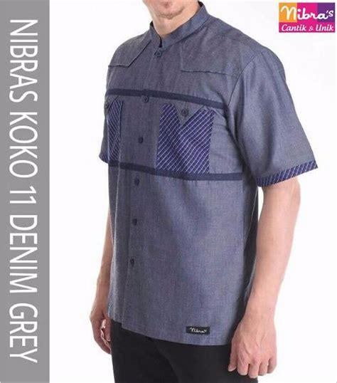 jual keren baju koko laki laki murah nibras nk 11 abu tua original baju koko terbaru di lapak