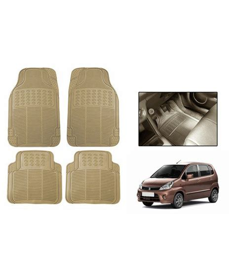 floor mats for zen estilo speedwav beige rubber car floor foot mats maruti zen estilo buy car accessories