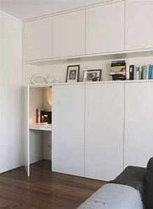Schreibtisch Im Schrank Verstecken : un bureau discret et beaucoup de rangement bidouilles ikea ~ Markanthonyermac.com Haus und Dekorationen