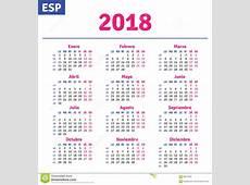 Spaanse Kalender 2018 vector illustratie Illustratie