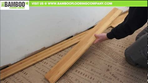 Underlayment For Bamboo Flooring On Concrete How To Install Bamboo Flooring Tongue Groove
