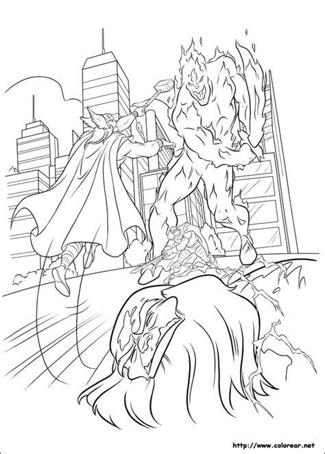 dibujos  colorear de thor