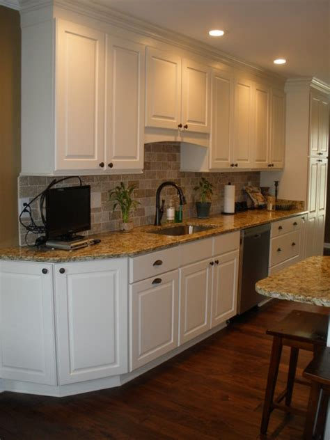 White Galley Kitchen  Traditional  Kitchen  Other By