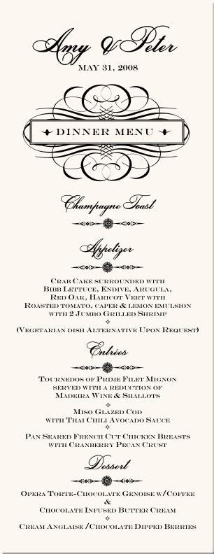 vintage wedding table  cards vintage monogram designs