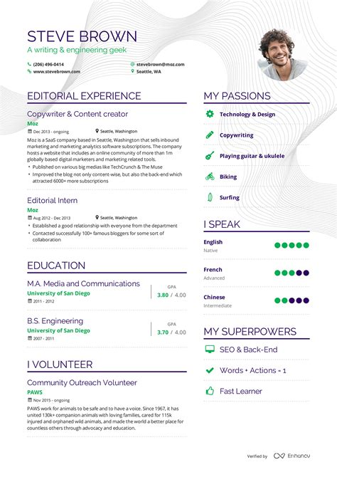 Examples Of Resumes By Enhancv. What Should Be My Objective On My Resume. Office Coordinator Resume. Resume Objective For Restaurant Job. Resume For Computer Job. Resume Samples For Maintenance Worker. It Resume Templates. Leonardo Da Vinci Resume. Navy Resume