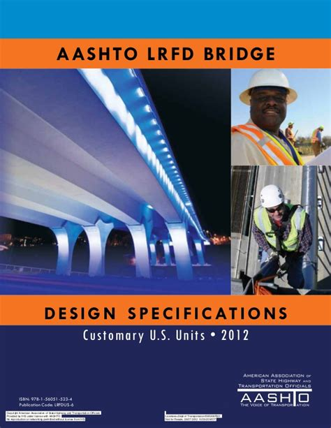 aashto lrfd bridge design specifications aashto lrfd 2012 bridge designspecifications 6th ed us