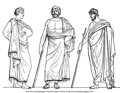 coloring pages  greek male costume color  bible