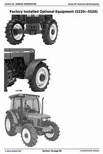 Deere Tractors 5220  5320  5420  And 5520 Service Repair