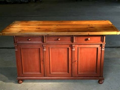 custom kitchen island table rustic barn red kitchen island with farm table top
