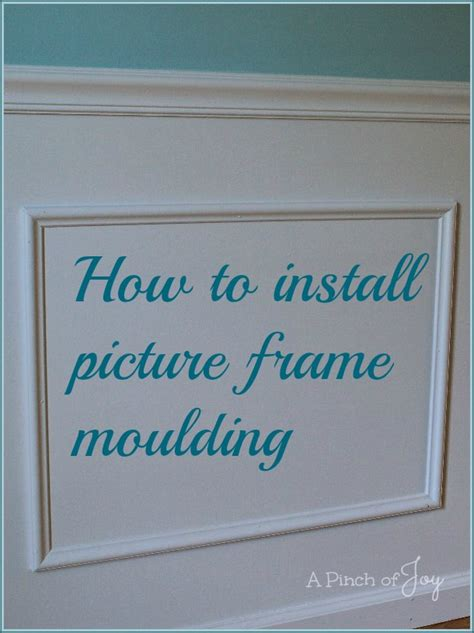 how to onstall how to install picture frame moulding