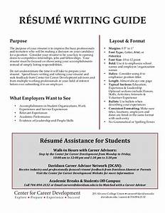 davidson college resume writing guide With resume writing hints