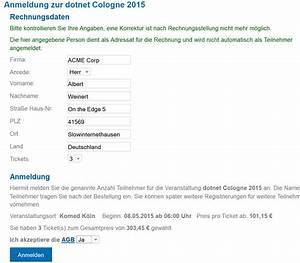 Tickets Auf Rechnung : wie ergattert man ein ticket zur dotnet cologne 2015 ~ Themetempest.com Abrechnung