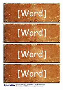 Microsoft Word Terms Editable Word Wall Bricks Templates Sb323 Sparklebox