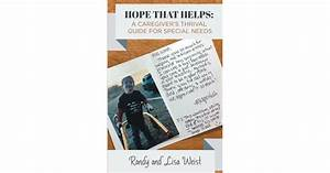 Randy And Lisa Weist U0026 39 S New Book  U0026 39 Hope That Helps  A
