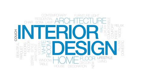 interior design animated word cloud text design animation kinetic typography motion